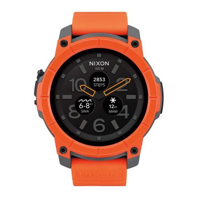 ЧАСОВНИК NIXON THE MISSION ORANGE/GREY/BLACK Android Wear™